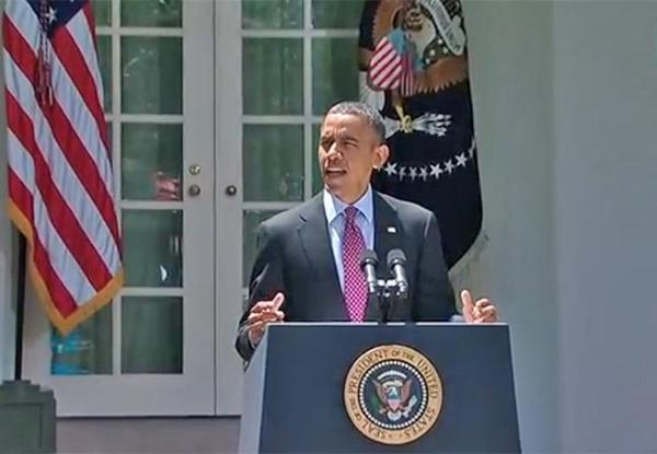 President Barack Obama addresses the new Department of Homeland Security's immigration policy. Photo via the White House