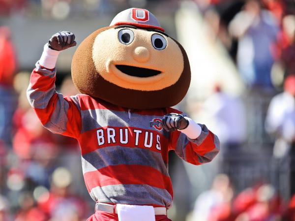 Brutus Buckeye, the Ohio State mascot. Does he know?
