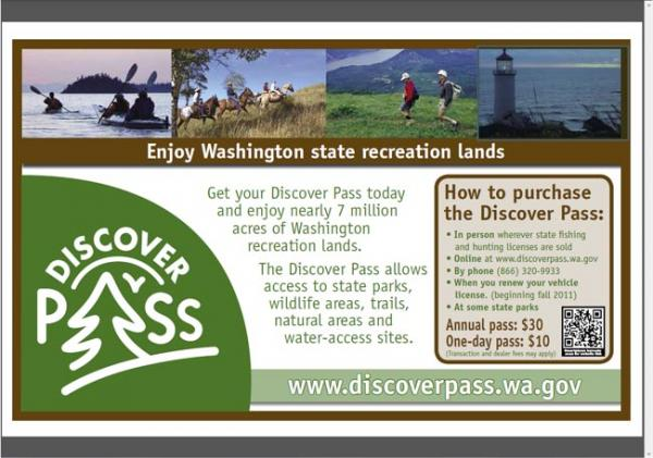 Sales of the new $30 annual Discover Pass have not met early projections. Image courtesy of Washington State Parks