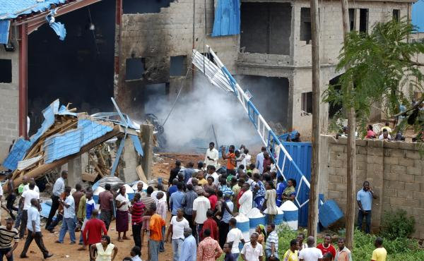 One of the three churches bombed on Sunday in northern Nigeria by Boko Haram, triggering reprisal killings.