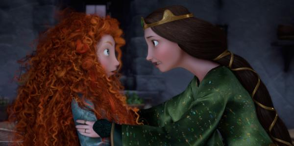 <em>Brave</em>'s Princess Merida, like any teenager, clashes with her mother, Queen Elinor.