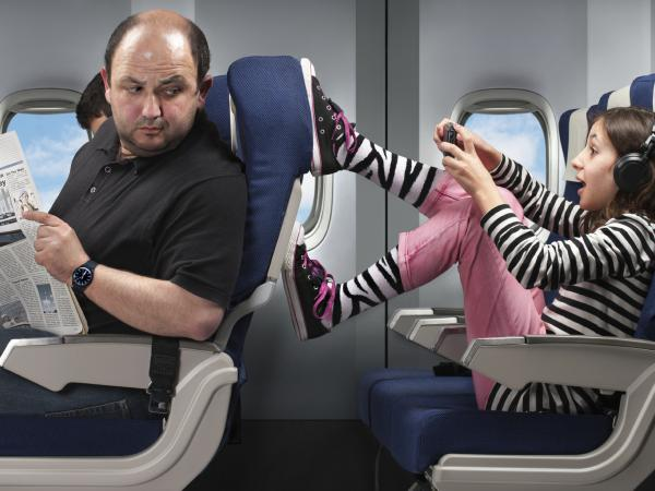 Some parents say the hardest part of flying with young kids on an airplane is dealing with unpredictable kids and <em>adult</em> passengers.