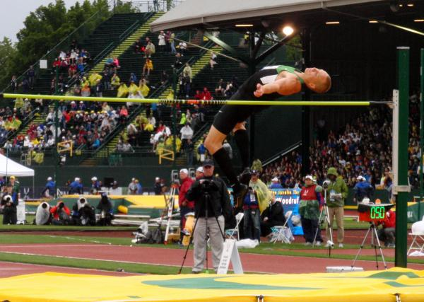 High jumper Jesse Williams of Eugene qualified for the Summer Olympics despite finishing fourth at the U.S. Team Trials. By Tom Banse.