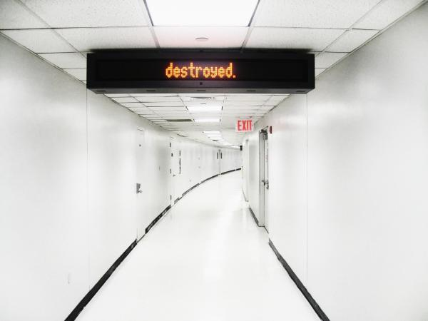 "<strong>New York:</strong> ""There was this little sign in this weird hallway. It said, 'unattended luggage will be destroyed,' but one word at a time."""