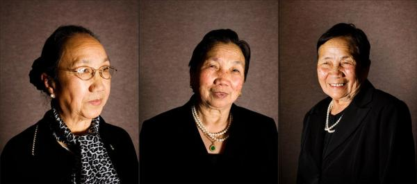 Gen. Vang Pao's sisters (from left to right) include Der Vang, Xai Vang and Lee Vang.