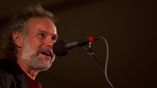 <p>John Gorka performs on <em>Mountain Stage</em> in Grand Marais, Minn., at North House Folk School.</p>