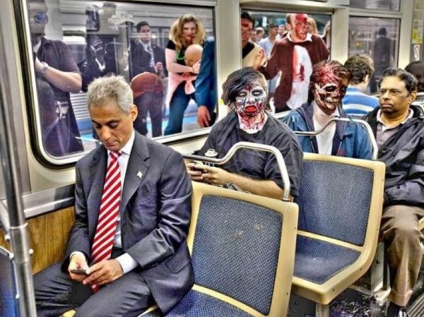 <p>The mayor's message: Have a safe Halloween, zombies included.</p>