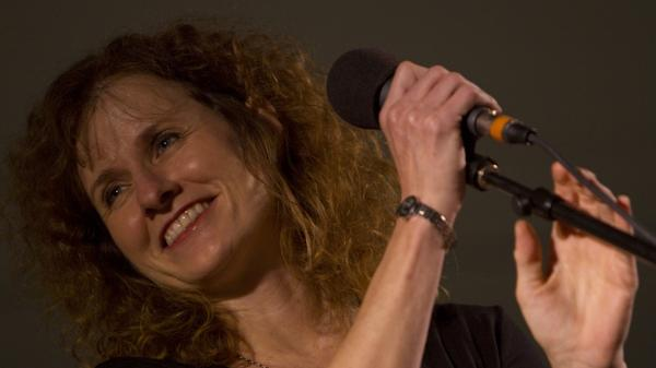 Cathy Ryan at North House Folk School Hosting NPR's <em>Mountain Stage</em>.