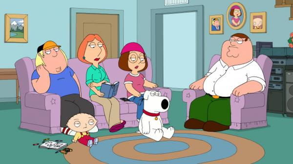 <p><em>Family Guy</em> has received three Primetime Emmy Awards. The series, set in Quahog RI, stars the Griffin family and their pet dog Brian.</p>
