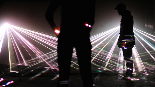 A 2010 light installation entitled 'Speed of Light' in London.