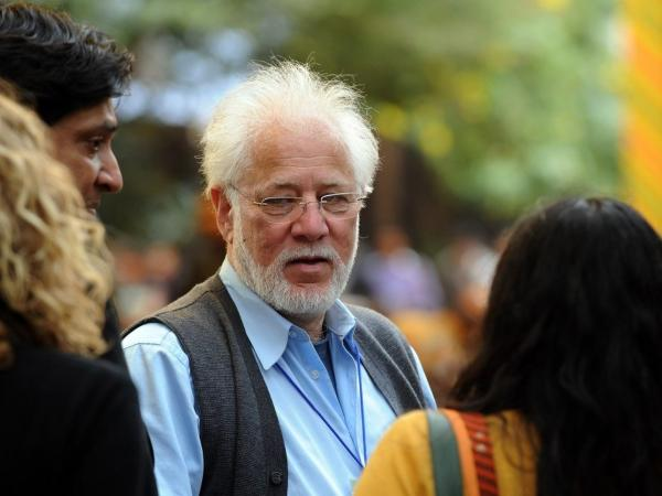 Novelist Michael Ondaatje spoke at the Jaipur Literature Festival in India last month. Ondaatje spoke in Berlin last week for the German premiere of his latest book,<em> The Cat's Table</em>, or <em>Katzentisch </em>in German.