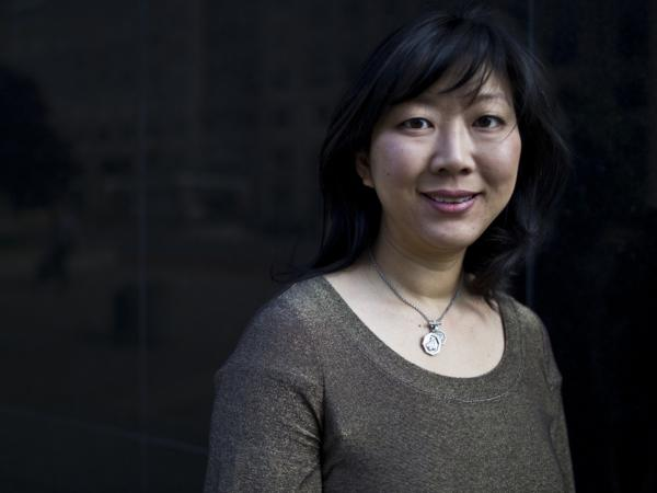 Monica Youn visits NPR headquarters in Washington on Friday.