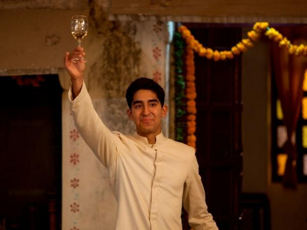 "Dev Patel as ""Sonny"" on the set of <em>The Best Exotic Marigold Hotel. </em>"
