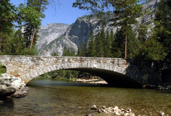 Three historic bridges spanning the Merced River are being considered for removal in the Yosemite Valley.