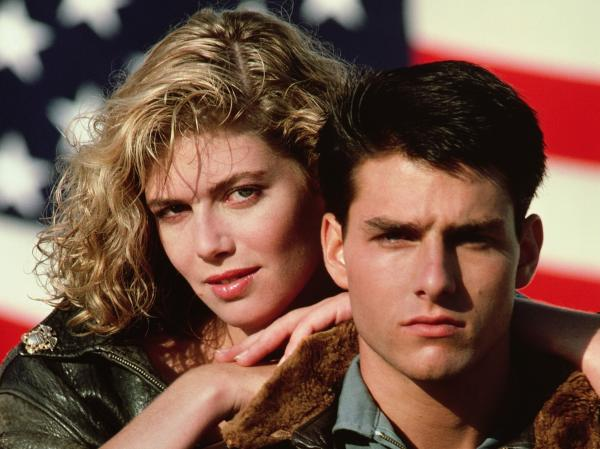"Kelly McGillis, left, and Tom Cruise star in the 1986 film, ""Top Gun."" (AP Photo/Paramount Pictures)"