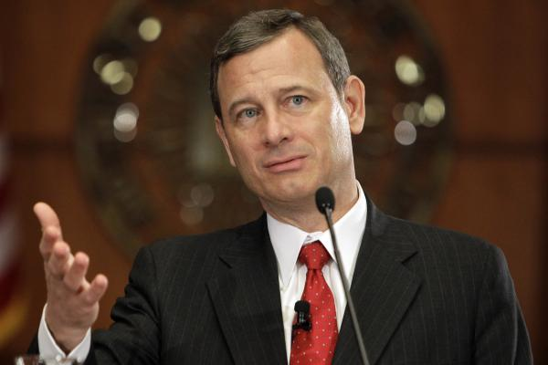 Chief Justice of the Supreme Court John Roberts speaks at the Indiana University School of Law in Indianapolis, April 7, 2010.