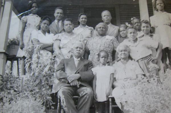 The first lady's maternal great-great-grandfather Dolphus Shields (seated) was born to Melvinia Shields. After emancipation, he settled his family in Birmingham, Ala., where he stayed until his death in 1950.