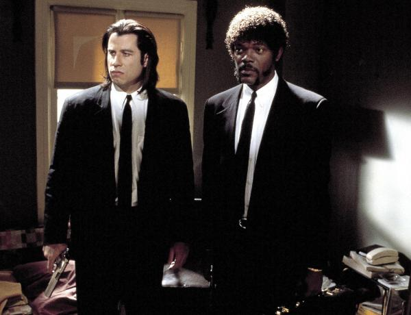 John Travolta and Samuel Jackson in Quentin Tarantino's <em>Pulp Fiction</em> [THE KOBAL COLLECTION/MIRAMAX/BUENA VISTA].