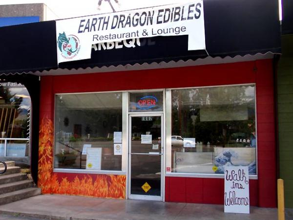 Earth Dragon Asian Grill occupies part of a strip mall near Southern Oregon University. Photo by Tom Banse