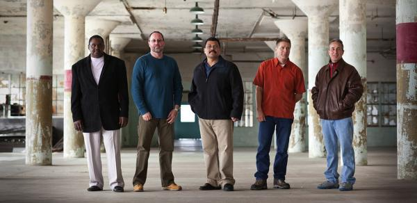 In <em>Life After Murder,</em> journalist Nancy Mullane follows the stories of five convicted murderers (from left) Jesse Reed, Don Cronk, Ed Ramirez, Phillip Seiler and Rich Rael.