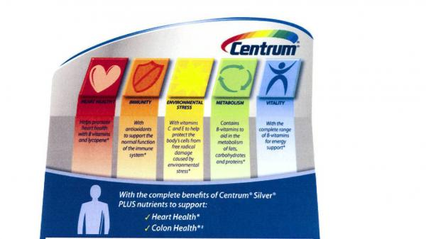 Pfizer will drop or qualify some health claims on labels and in ads for Centrum vitamins and supplements.
