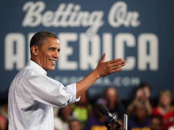 President Obama speaks Friday at a campaign event in Poland, Ohio.