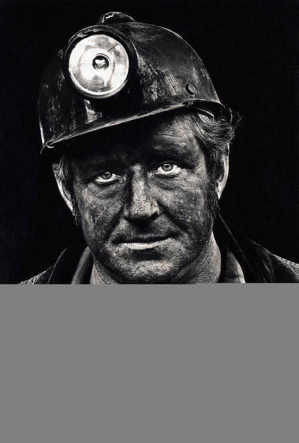 Coal miner Lee Hipshire in 1976, shortly after emerging from a mine in Logan County, W.Va. at the end of his shift. At age 36, he had worked 26 years underground. A few years later, Lee took early retirement because of pneumoconiosis, or black lung disease. He died at 57.