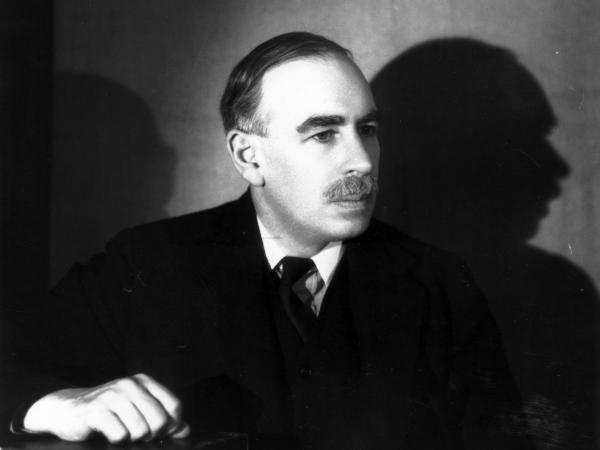 British economist and the founder of 'Keynsian economics' John Maynard Keynes (1883 - 1946) is pictured in this 1938 photo.