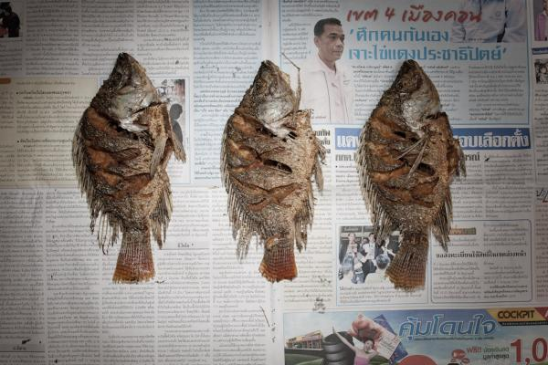 <strong>Thailand:</strong> 52.87 baht, or $1.74 U.S., of fried fish.