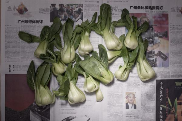 <strong>China:</strong> 6.30 yuan, or $1 U.S., of bok choy.