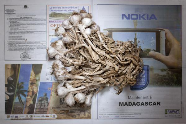 <strong>Madagascar:</strong> 1,284 ariary, or 58 cents U.S., of garlic.