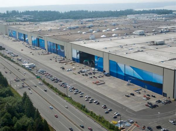 Boeing's Everett, Wash. factory. Photo courtesy of Boeing