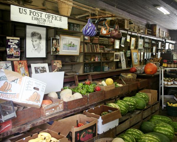 The store also sells produce from the Woods' farm.