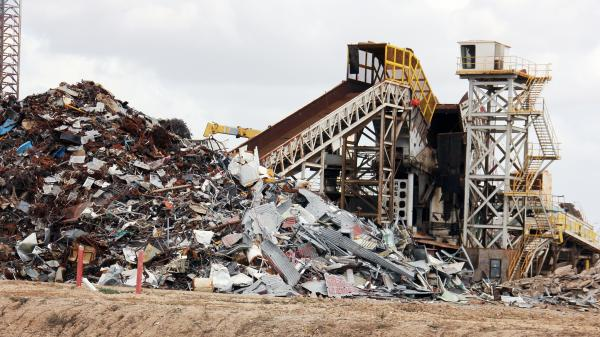 An industrial shredder at International Shipbreaking Ltd. in Brownsville, Texas. The landlocked city has become the hub of the U.S. ship-recycling industry.
