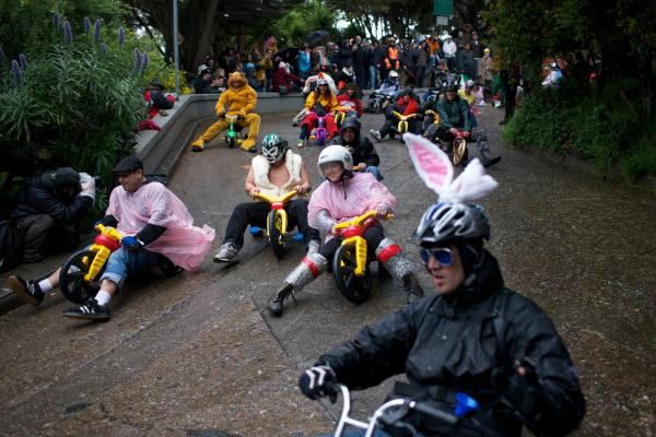Bring Your Own Big Wheel race, San Francisco