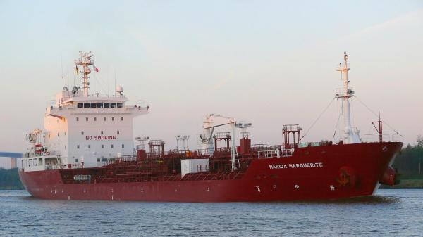 The German tanker Marida Marguerite, which was hijacked off the coast of Oman in 2010.