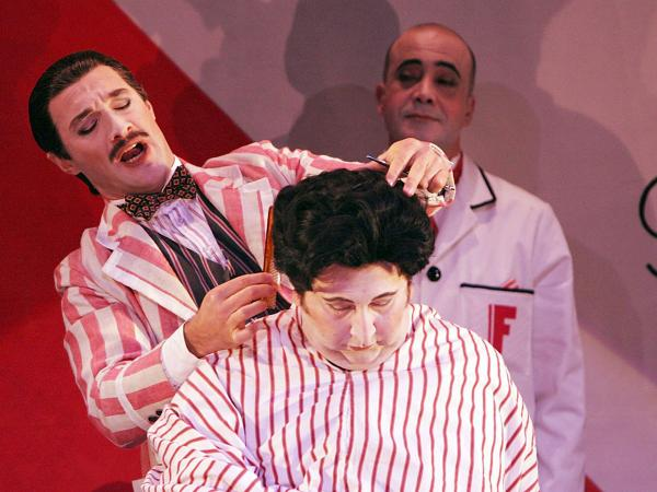Jose Carbo (left) is the wily title character in a Sydney Opera House production of Rossini's <em>Il barbieri di Siviglia</em>.