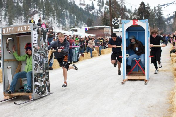 Outhouse races, Conconully, Wash.