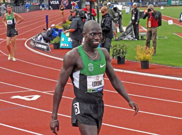 Lopez Lomong will compete in the 5000 meter race at the Summer Olympics in London. Photo by Tom Banse
