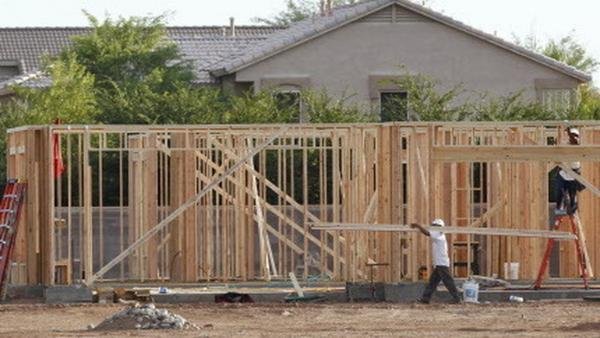 In Phoenix earlier this month, workers were framing this new home.