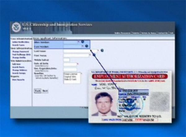 Screenshot from a U.S. Citizenship and Immigration Services video providing an overview of the SAVE program.