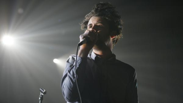 Passion Pit's Michael Angelakos performs at Terminal 5 in New York in 2010. The band's new record, <em>Gossamer</em>, comes out July 24.