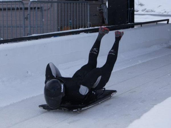 Adebiyi is training to compete in the Skeleton at the 2014 Winter Olympics after his battle with cancer.