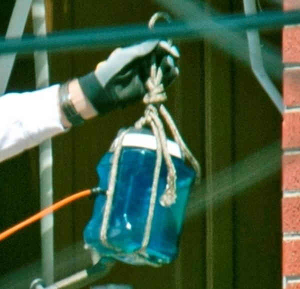 A close up look at the device. According to <em>The Denver Post</em>, a robot was used to move it into the apartment.