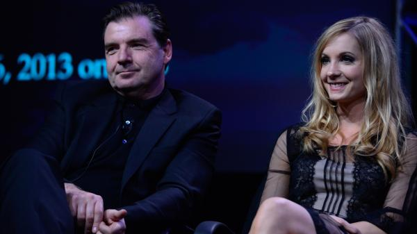 Brendan Coyle and Joanne Froggatt, who play Mr. Bates and Anna on <em>Downton Abbey</em>.
