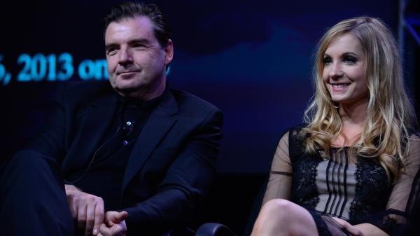 Brendan Coyle and Joanne Froggatt, who play Mr. Bates and Anna on <em>Downton Abbey</em>.