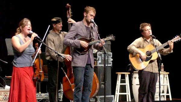 Nickel Creek performs on <em>Mountain Stage</em>.