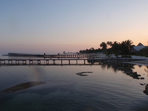 Sunset in Belize, a popular offshore haven for businesses.