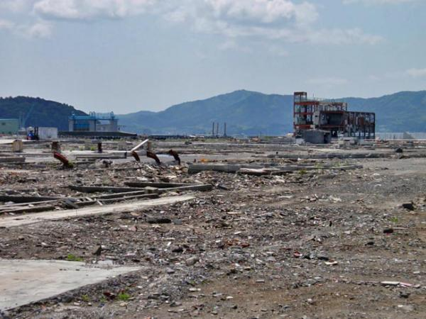 Rebuilding has gone slowly in tsunami-ravaged Minamisanriku, Japan. Photo by Tom Banse