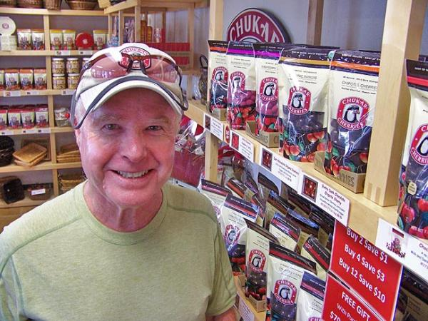 J.T. Montgomery is one of the owners of Chukar Cherries. Photo by Anna King